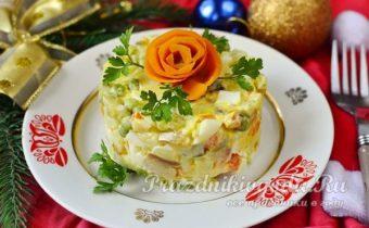 Салат с рыбой на Новый год